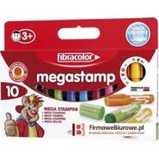 "ZĪMOGI FLOMASTERI ""MEGASTAMP"" 10 GAB."